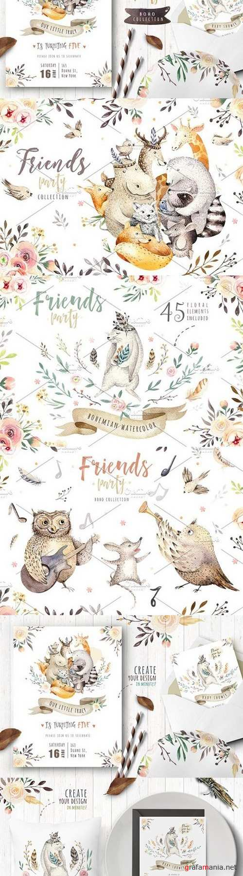 Friends party.Boho collection I 1685623
