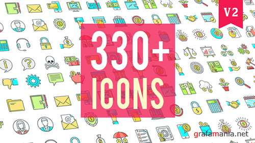 Icons Pack 330 Animated Icons - Project for After Effects (Videohive)