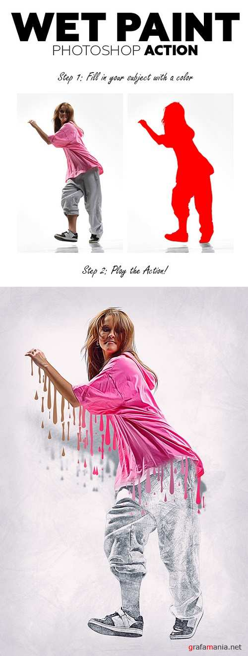 Wet Paint Photoshop Action (With 3D Pop Out Effect) 20463395