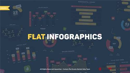 Flat Design Infographics - After Effects Project (Videohive)