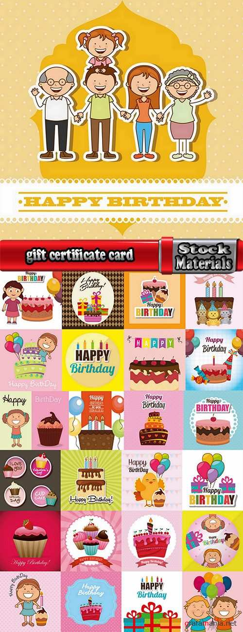 gift certificate business card banner flyer calling card poster 2-25 eps