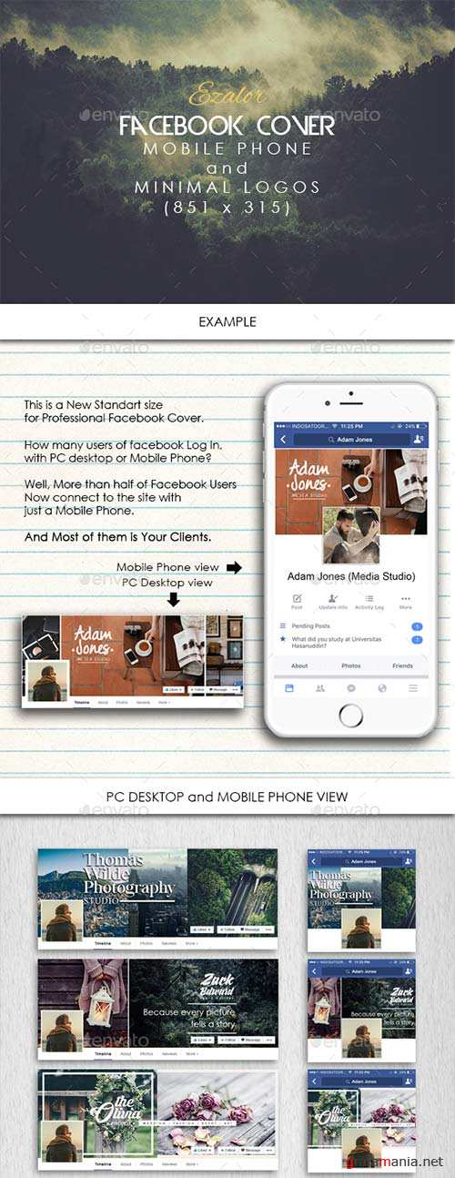 GraphicRiver Facebook Cover Photographer Mobile View