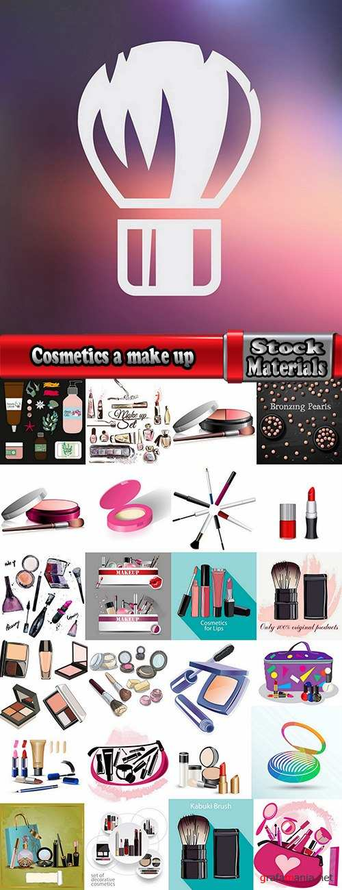 Cosmetics a make up powder brush lipstick shade for the face 25 EPS