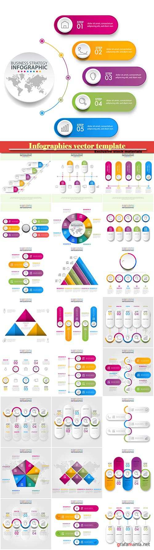 Infographics vector template for business presentations or information banner # 11
