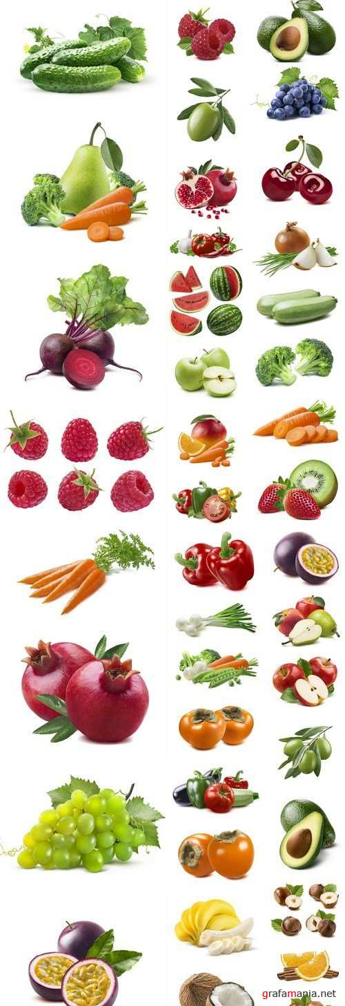 Isolated Fruits And Vegetables