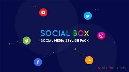 SocialBox - Social Media Intro and Outro for Social Media Links Promotion - After Effects Project (Videohive)