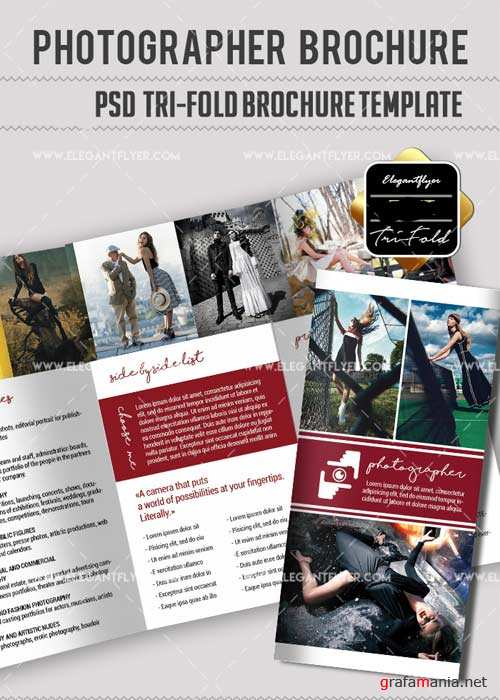 Photography V30 Tri-Fold Brochure Template