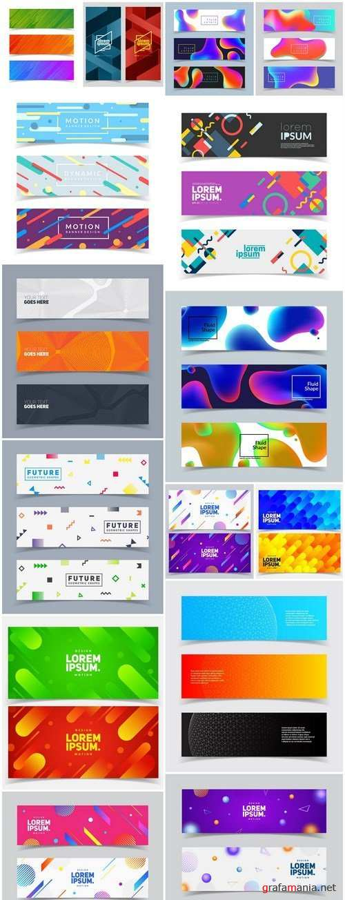 Abstract Banners Collection #128