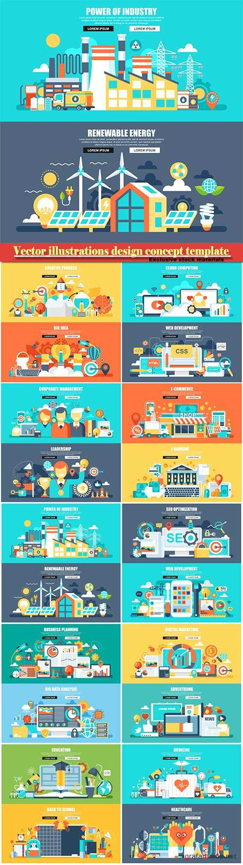 Vector illustrations design concept template