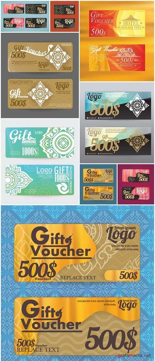 Gift Voucher Collection #24 - 9 Vector