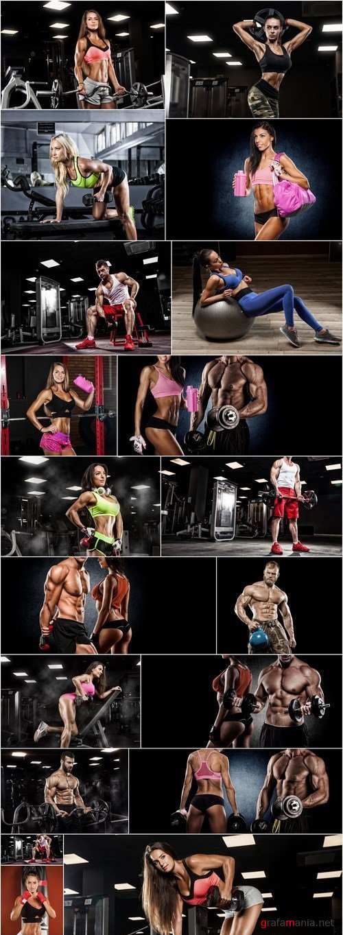 Man And Woman Bodybuilder - 20 HQ Images