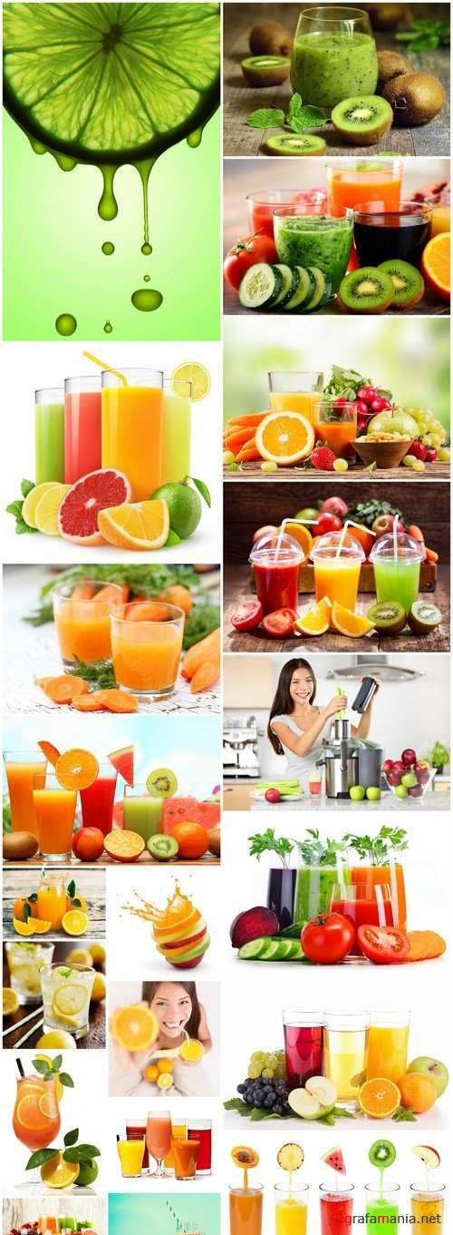 Juice From Fresh Fruit - 20 HQ Images