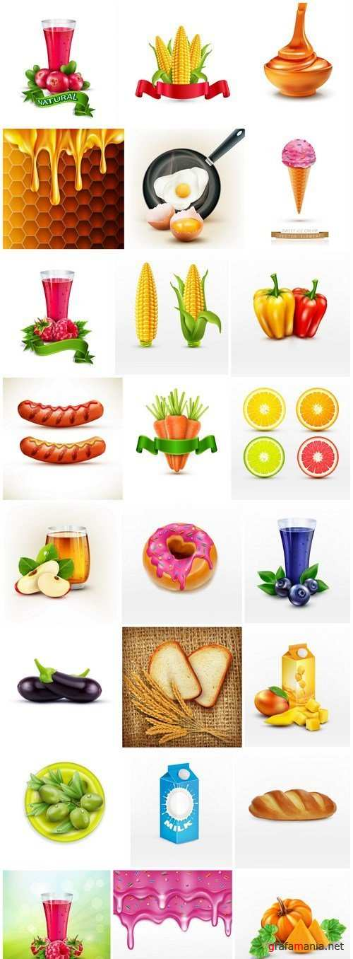 Different Food And Drink - 24 Vector
