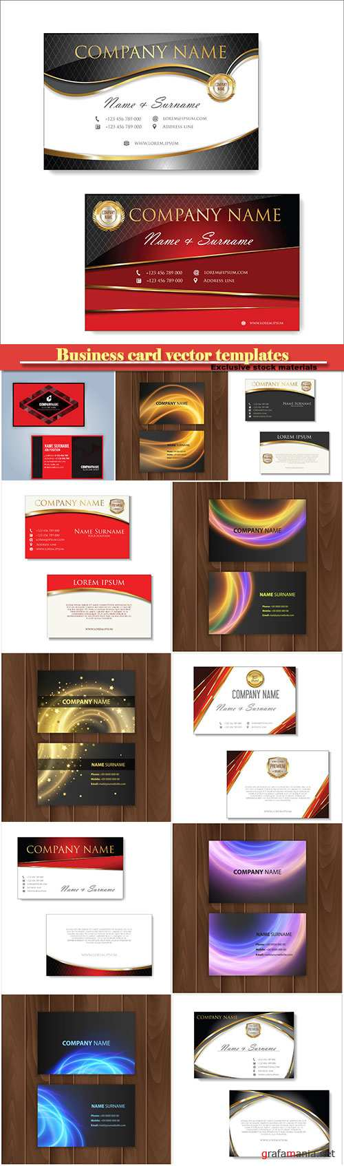 Business card vector templates # 28