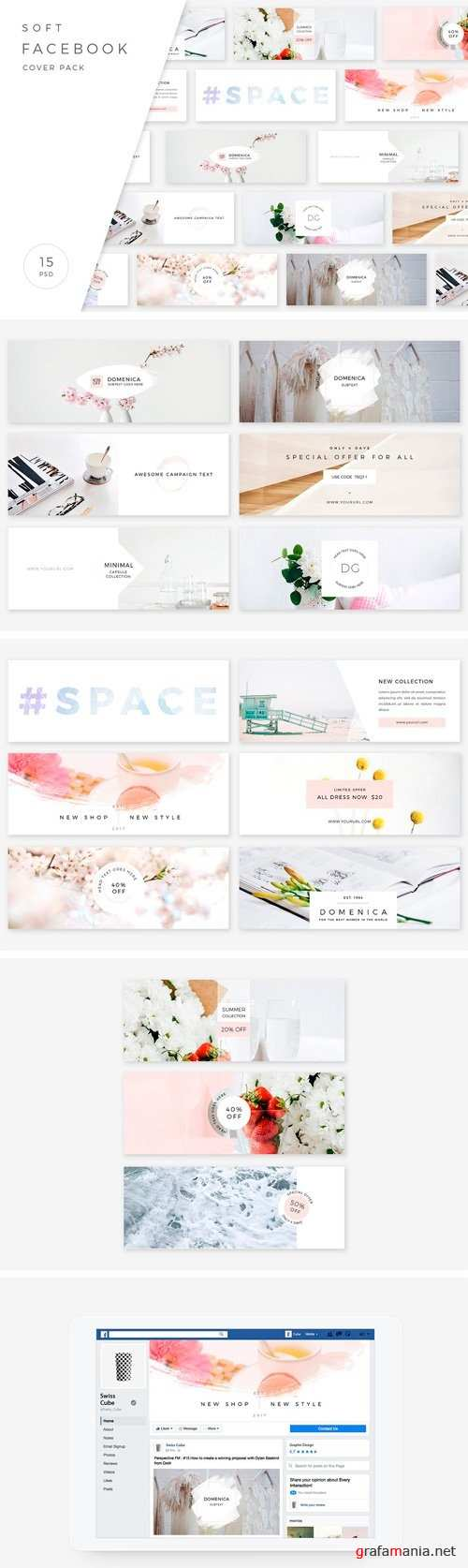 Soft Facebook Cover Pack 1791735