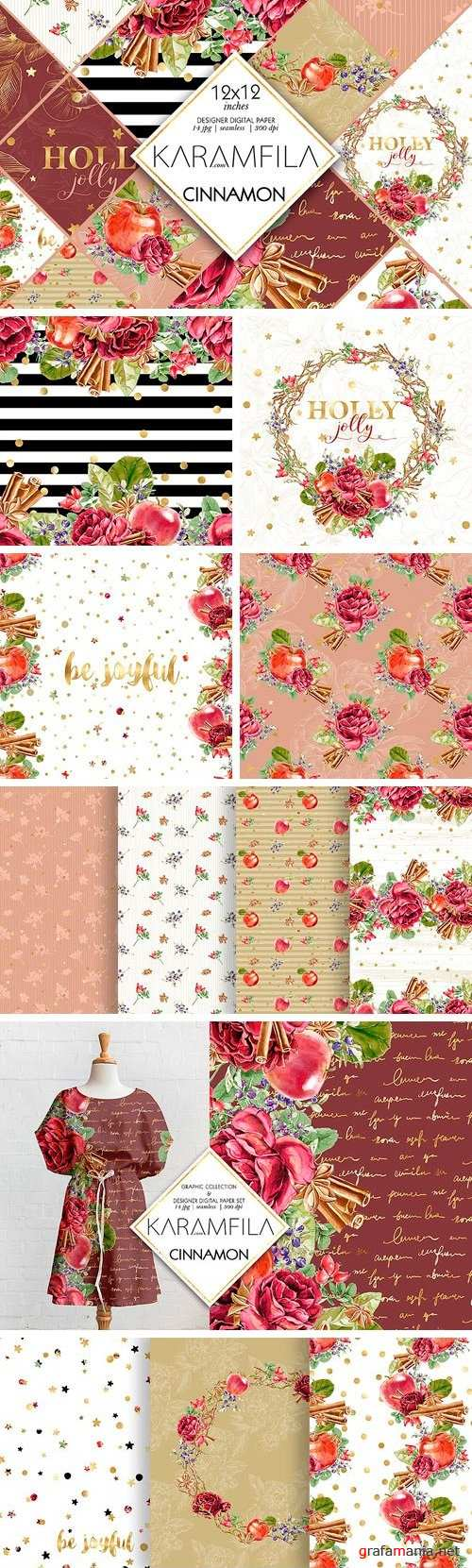 Cinnamon and Apples Patterns 1792682