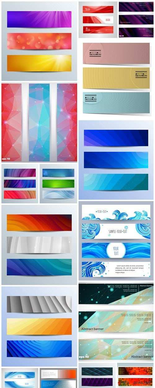 Abstract Banners Collection #127 - 16 Vectors