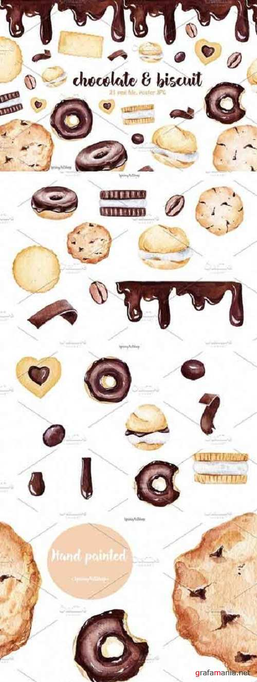 Chocolate & Biscuits clipart 1847158