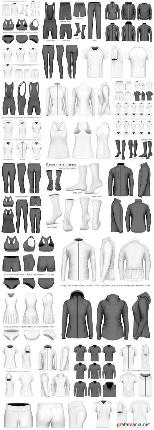 Mockup Of Men's And Women's Clothing