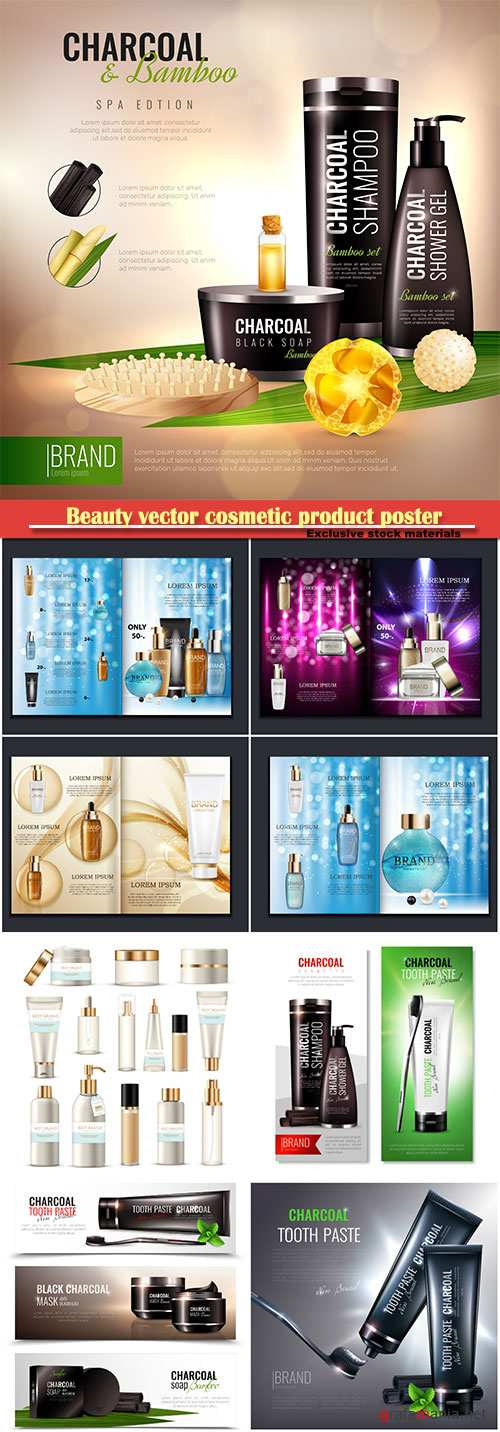 Beauty vector cosmetic product poster # 24