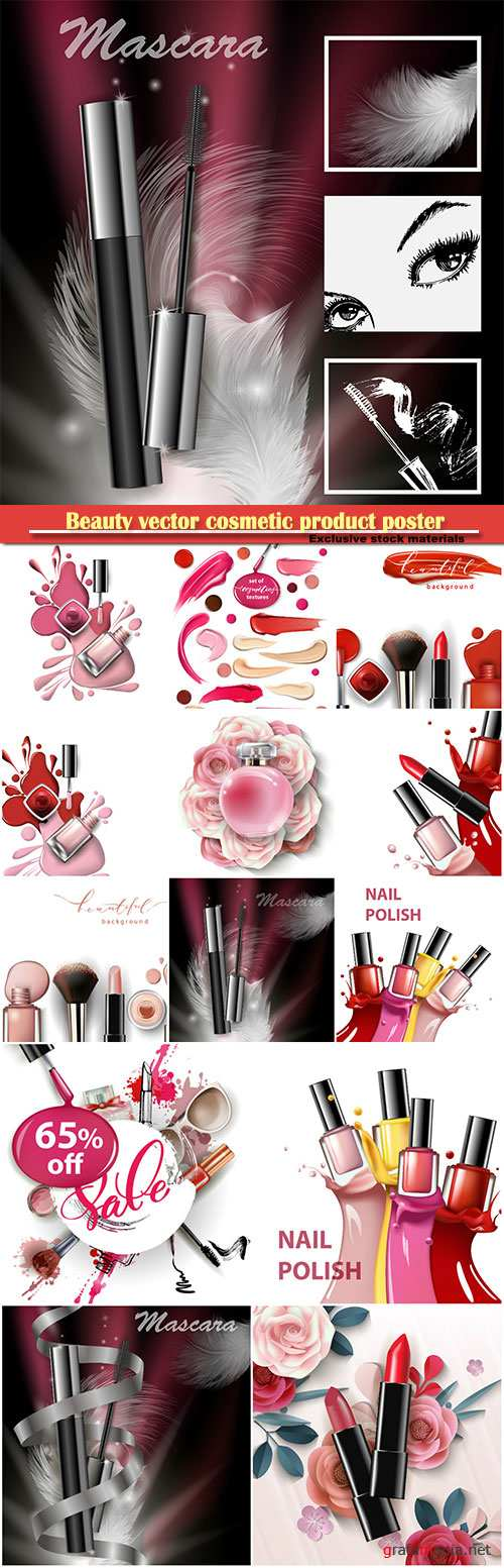 Beauty vector cosmetic product poster # 23
