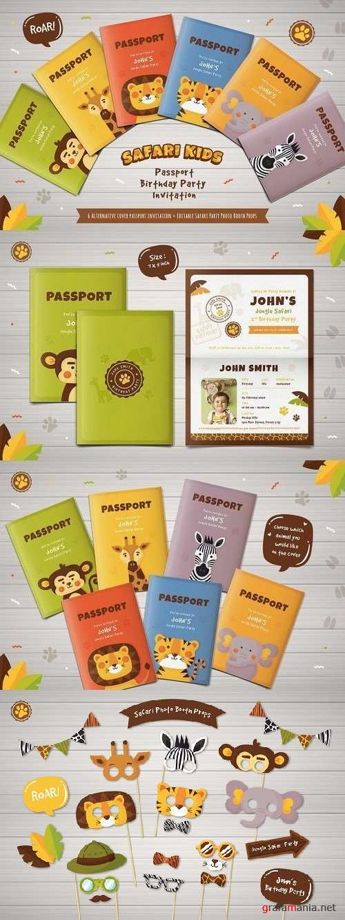 Safari Passport Birthday Invitation 1823385