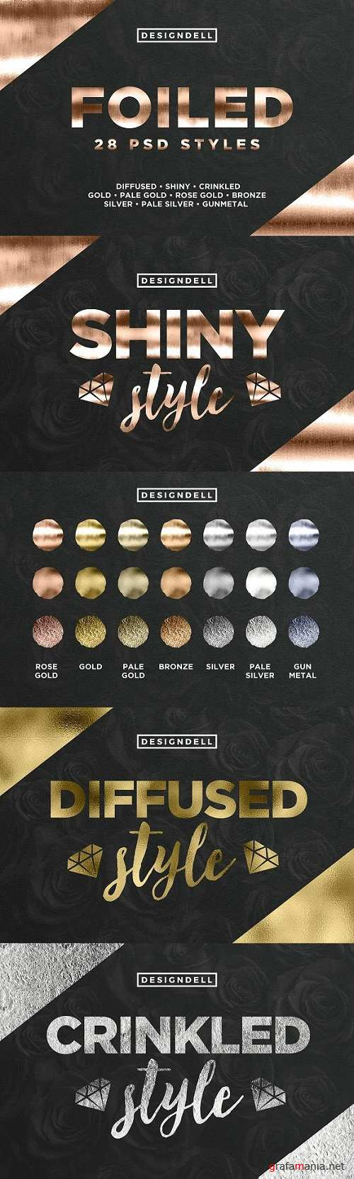 Foiled Photoshop Styles 1848729