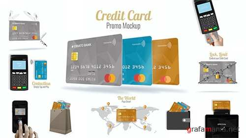 Credit Card Promo Mock-up - After Effects Project (Videohive)