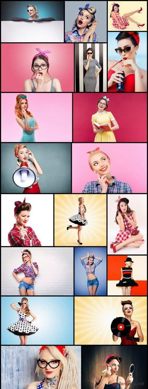 Pin Up Girl Retro Style #2 - 20 HQ Images