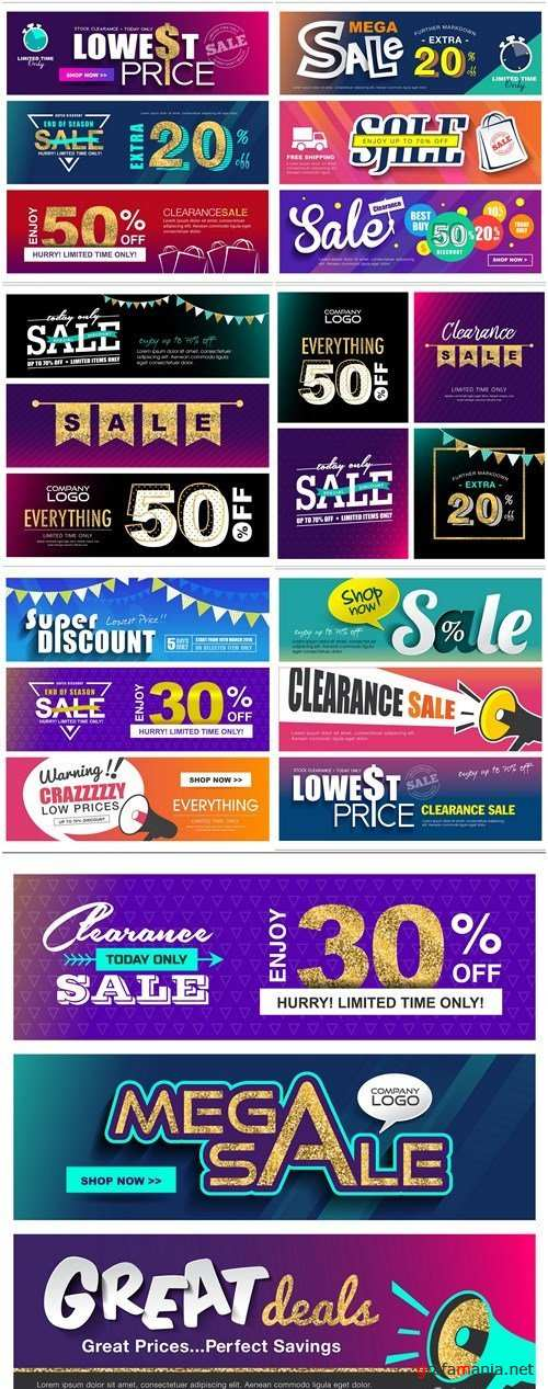 Sale Banner Tag - 8 Vector