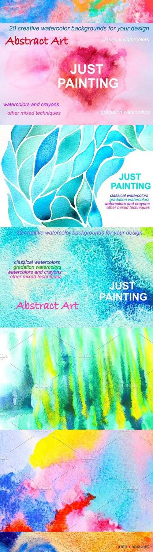 20 Abstract Watercolor Backgrounds 1711227