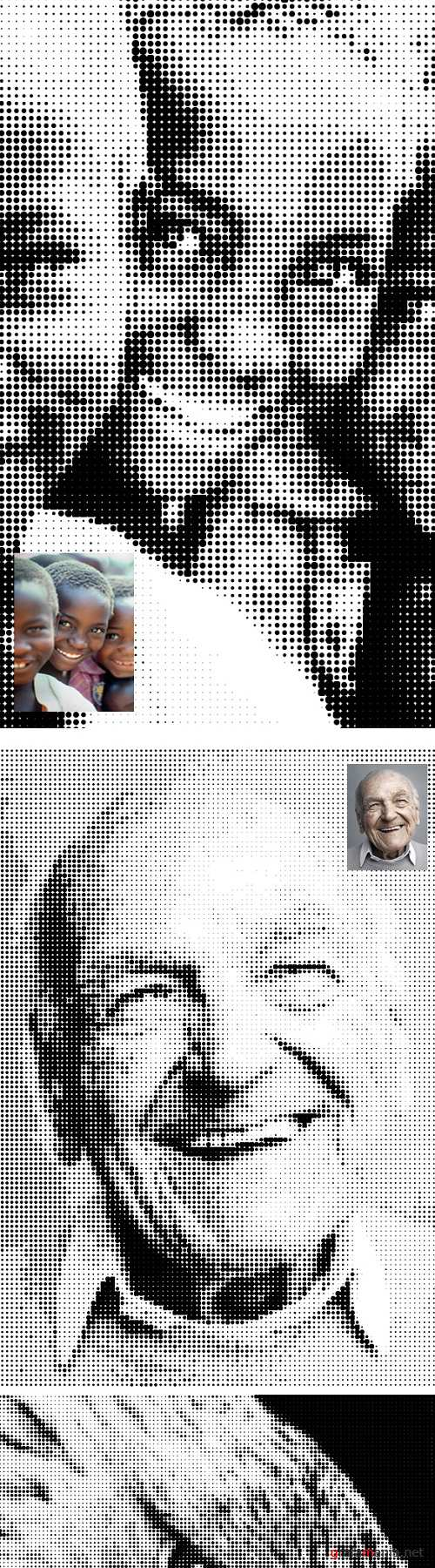 Halftone Effect PS Action - 19871386