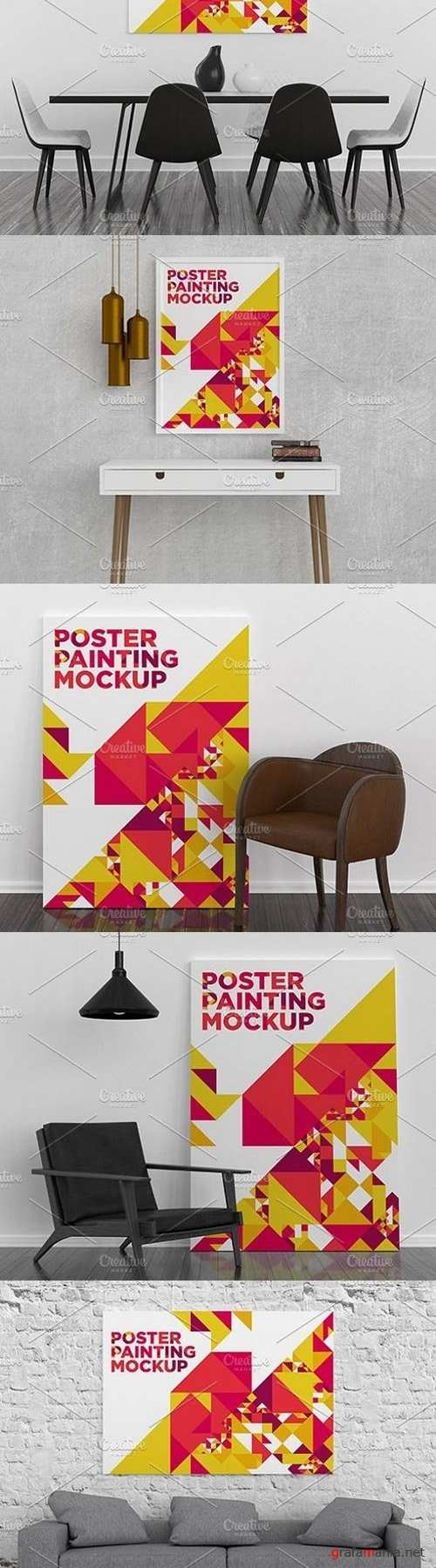 Poster Painting MockUp Pack 001 - 1710761