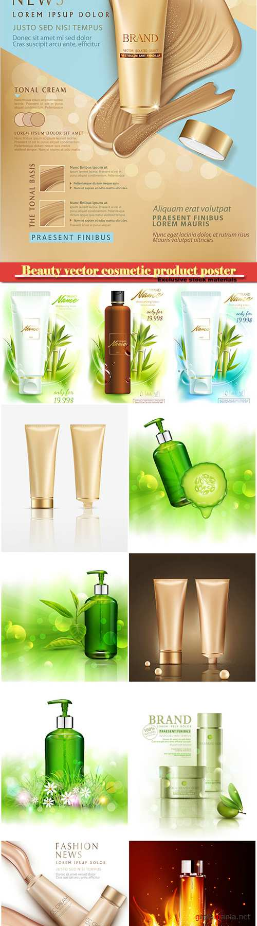 Beauty vector cosmetic product poster # 18