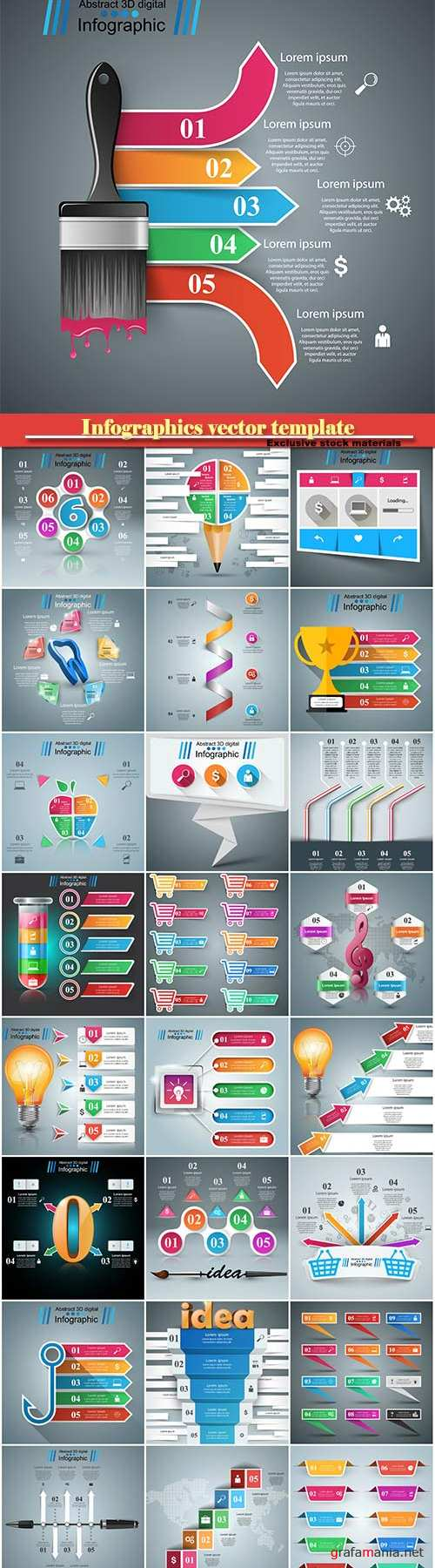 Infographics vector template for business presentations or information banner # 13