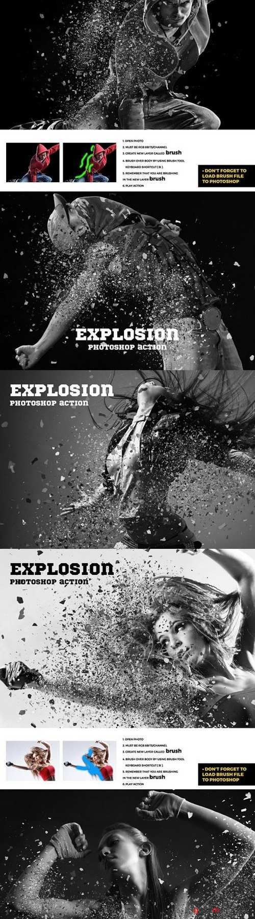 Explosion Photoshop Action 1772101