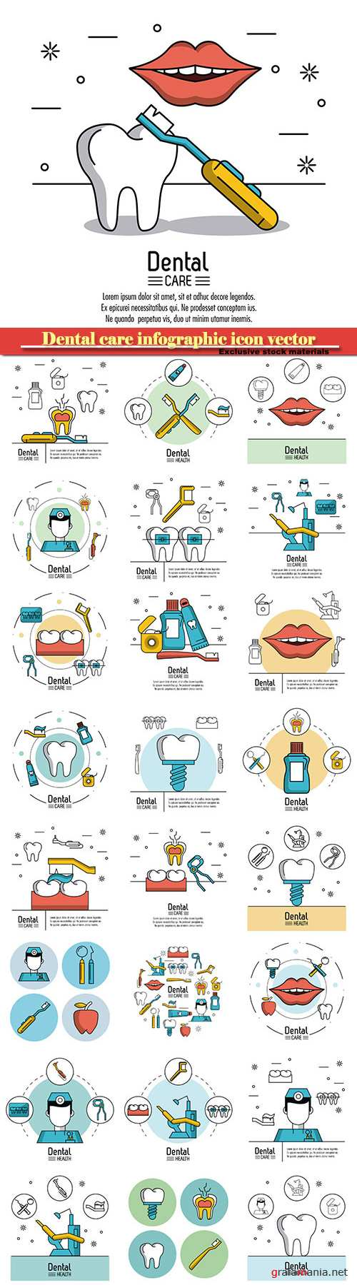 Dental care infographic icon vector illustration graphic design