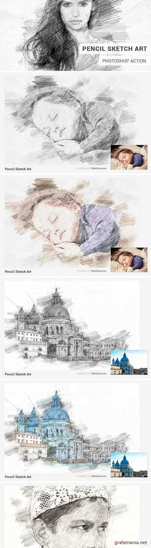 Pencil Sketch Art Photoshop Action 1821521