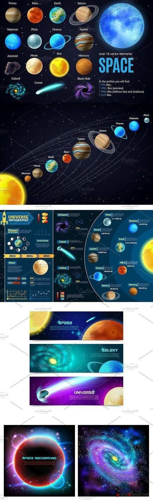 Outer Space and Planets Set 1877987