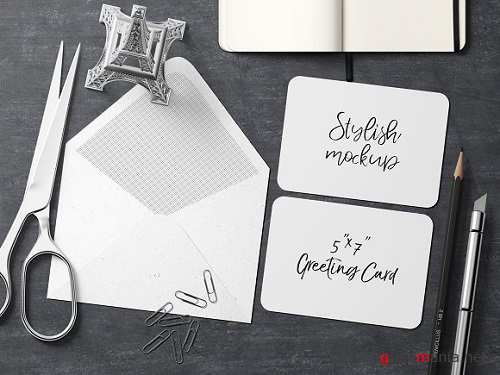 7x5 Greeting Card Mockup - 7 1834344