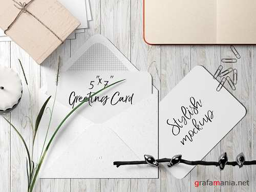 7x5 Greeting Card Mockup - 8 1834356