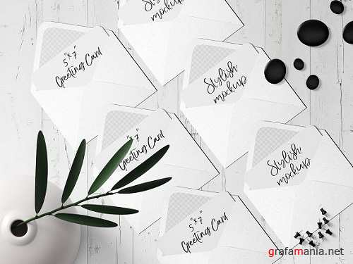 7x5 Greeting Card Mockup - 10 1834378