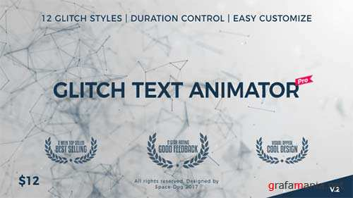 Glitch Text Animator PRO - After Effects Project (Videohive)