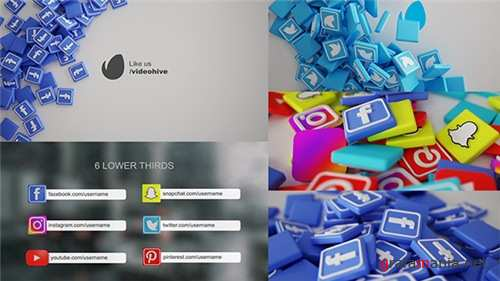 Social Media Pack 3D - After Effects Project (Videohive)
