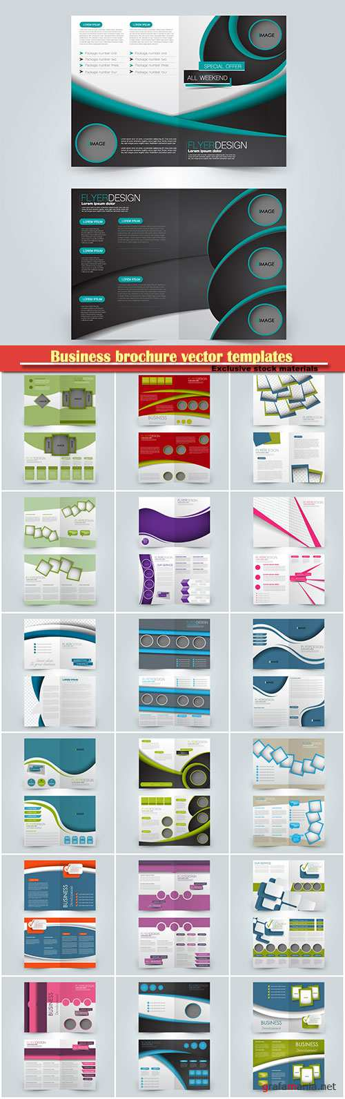Business brochure vector templates, magazine cover, business mockup, education, presentation, report # 53