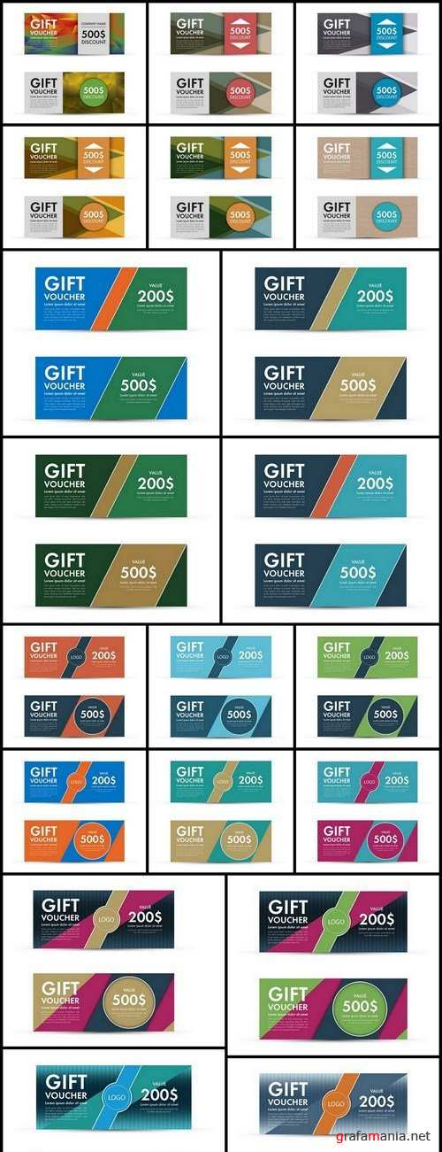 Gift Voucher Collection #22 - 20 Vector