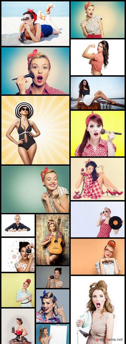 Pin Up Girl Retro Style - 20 HQ Images