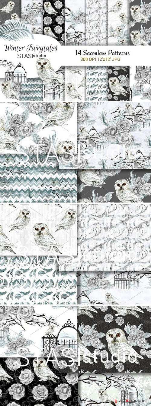 Watercolor White Owl Paper Pack 1834543