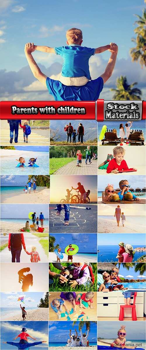 Parents with children on holiday vacation journey kid mom dad 25 HQ Jpeg