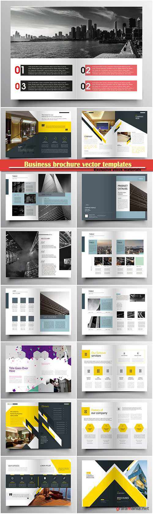 Business brochure vector templates, magazine cover, business mockup, education, presentation, report # 66